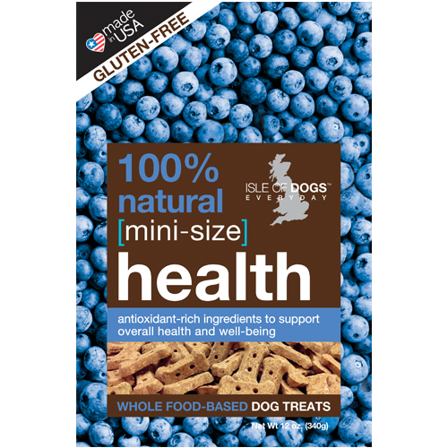 MINI-HEALTH 100% NATURAL BAKED TREAT - FEATURING WHOLE OATS AND BLUEBERRY, Treats - Bones Bizzness