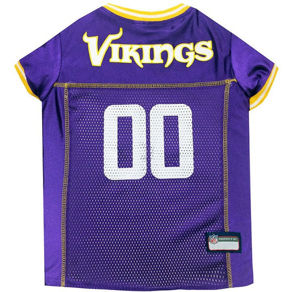 MINNESOTA VIKINGS DOG JERSEY – YELLOW TRIM, NFL Jerseys - Bones Bizzness