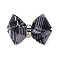 CHARCOAL SCOTTY NOUVEAU DOG HAIR BOWS, HAIR BOW - Bones Bizzness