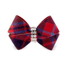 RED CHESTNUT SCOTTY NOUVEAU DOG HAIR BOWS, HAIR BOW - Bones Bizzness