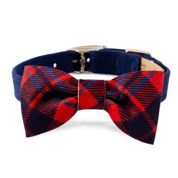SCOTTY COLLAR BLUE CHESTNUT PLAID COLLAR, Collars - Bones Bizzness