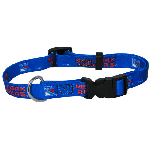 NEW YORK RANGERS DOG COLLAR, NHL - Bones Bizzness
