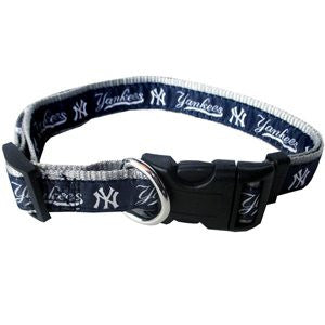 NEW YORK YANKEES DOG COLLAR – RIBBON, MLB - Bones Bizzness