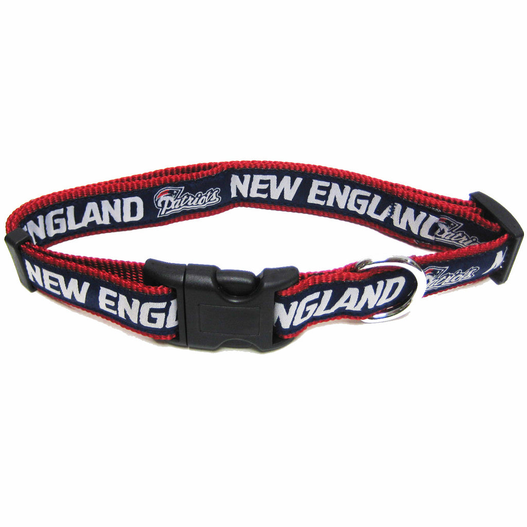 NEW ENGLAND PATRIOTS DOG  COLLAR-RIBBON, NFL Collars - Bones Bizzness