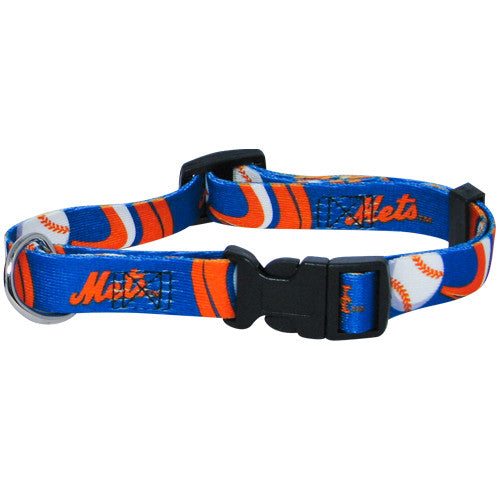 NEW YORK METS DOG COLLAR, MLB - Bones Bizzness