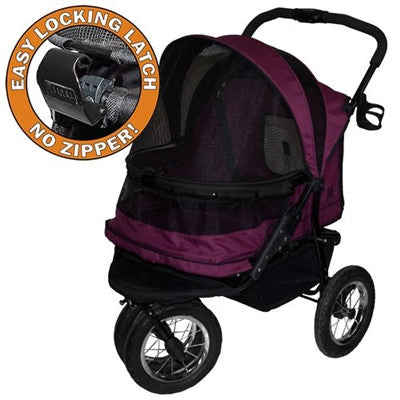 NO - ZIP DOUBLE PET STROLLER BOYSENBERRY, Strollers - Bones Bizzness