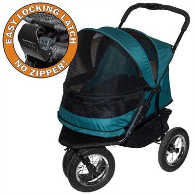 NO - ZIP DOUBLE PET STROLLER PINE GREEN, Strollers - Bones Bizzness