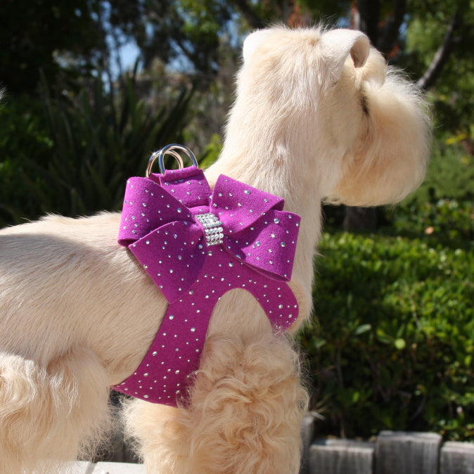 SILVER STARDUST NOUVEAU BOW STEP-IN DOG HARNESS - 53 COLORS