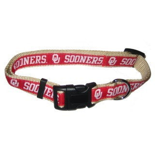 OKLAHOMA SOONERS DOG COLLAR – RIBBON, NCAA - Bones Bizzness