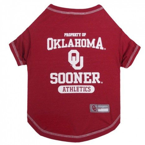 OKLAHOMA SOONERS DOG TEE SHIRT, NCAA - Bones Bizzness