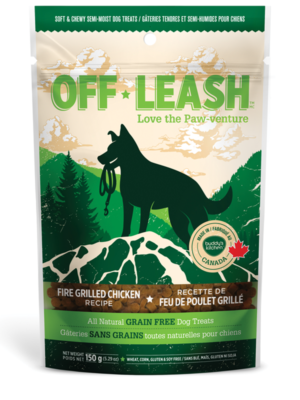 OFF LEASH FIRE GRILLED CHICKEN SOFT & CHEWY DOG TREATS, Treats - Bones Bizzness