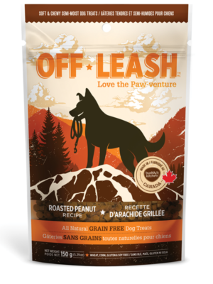 OFF LEASH ROASTED PEANUT SOFT & CHEWY DOG TREATS, Treats - Bones Bizzness