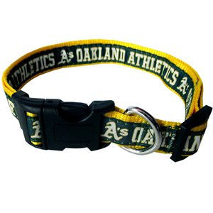 OAKLAND ATHLETICS DOG COLLAR – RIBBON, MLB - Bones Bizzness