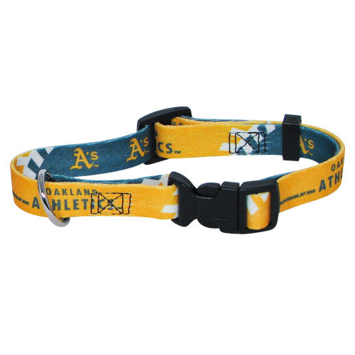 OAKLAND ATHLETICS DOG COLLAR, MLB - Bones Bizzness