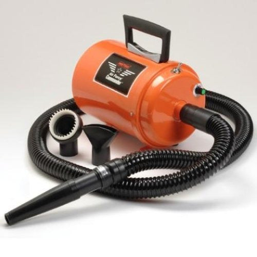 AIR FORCE COMMANDER TWO SPEED SERIES ORANGE 1.17 HP MOTOR DOG DRYER, Groom - Bones Bizzness