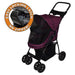 HAPPY TRAILS NO ZIP LITE DOG STROLLER BOYSENBERRY, STROLLERS - Bones Bizzness
