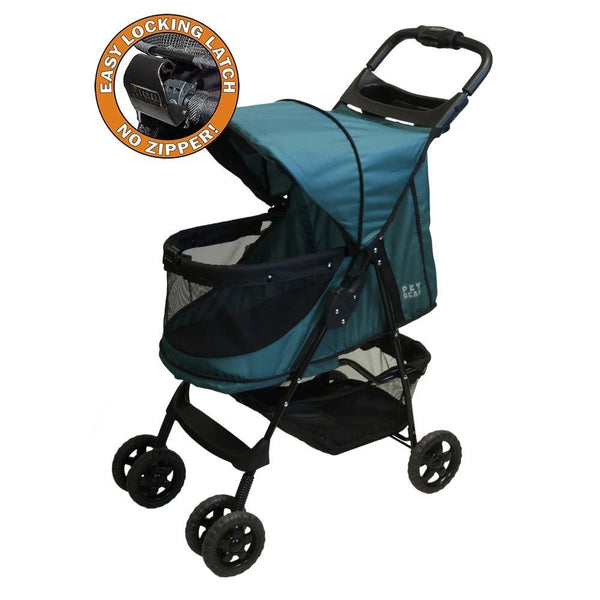 HAPPY TRAILS NO ZIP PET STROLLER - EMERALD, STROLLERS - Bones Bizzness