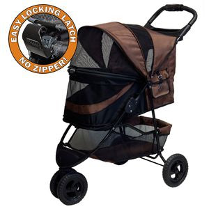 Special Edition NO-ZIP Pet Stroller - Chocolate, Strollers - Bones Bizzness