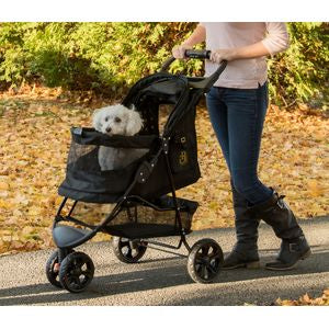 Special Edition NO-ZIP Pet Stroller - Gold Monogram, Strollers - Bones Bizzness