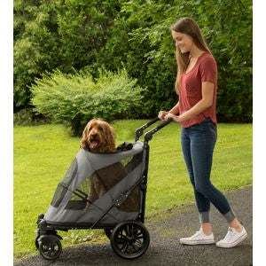 EXCURSION NO-ZIP PET STROLLER - DARK PLATINUM, Strollers - Bones Bizzness