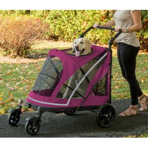 NO-ZIP EXPEDITION PET STROLLER - BOYSENBERRY, Strollers - Bones Bizzness