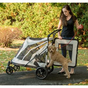 NO-ZIP EXPEDITION PET STROLLER - FOG, Strollers - Bones Bizzness