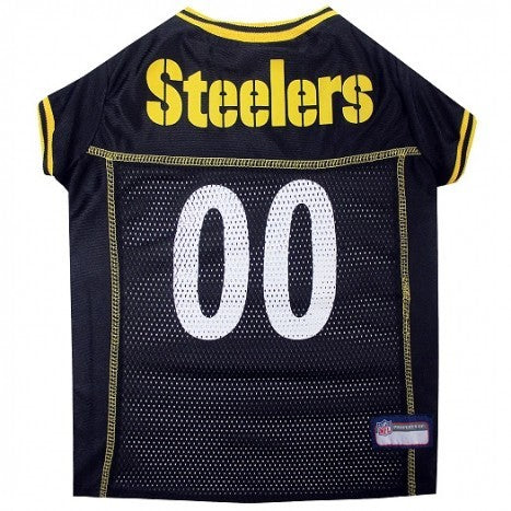 PITTSBURGH STEELERS DOG JERSEY – YELLOW TRIM, NFL Jerseys - Bones Bizzness