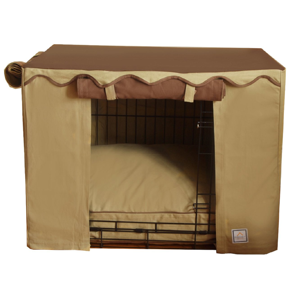 CAMEL BROWN DOG CRATE COVER, Crate Cover - Bones Bizzness