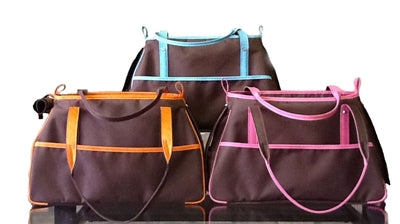 CHARLIE DOG BAG CARRIER - COCOA BROWN COLLECTION, Carriers - Bones Bizzness