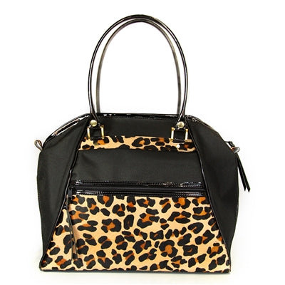 LEOPARD HAYLEE DOG CARRIER BAG, Carriers - Bones Bizzness