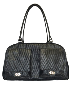 BLACK WOVEN MARLEE DOG CARRIER, Carriers - Bones Bizzness