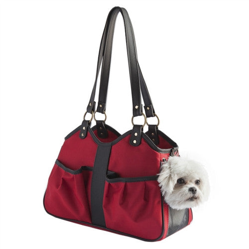 METRO II DOG BAG CARRIER - RED, Carriers - Bones Bizzness
