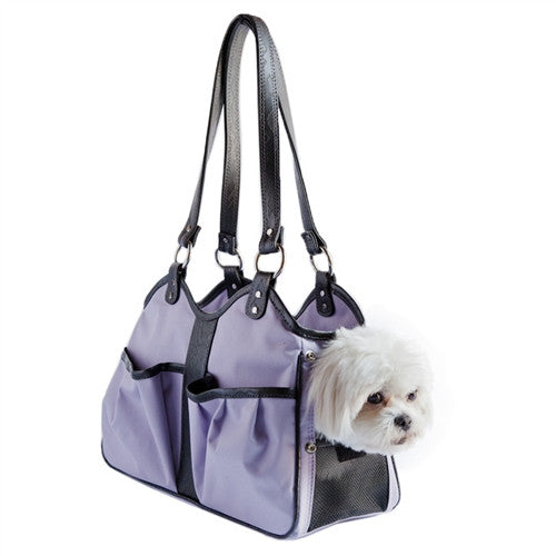 METRO II DOG BAG CARRIER - LILAC, Carriers - Bones Bizzness