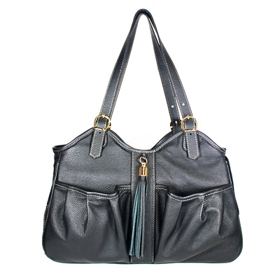 METRO COUTURE MIDNIGHT W/TASSEL DOG BAG CARRIER, Carriers - Bones Bizzness