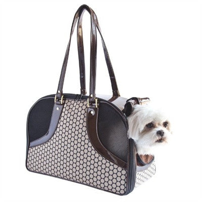 NOIR COFFEE DOTS ROXY DOG BAG CARRIER, Carriers - Bones Bizzness