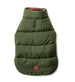 BURGUNDY / OLIVE REVERSIBLE MOOSE PUFFER DOG COAT