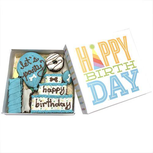 Happy Birthday Party Boxed Dog Treats (Pink / Blue / Unisex)