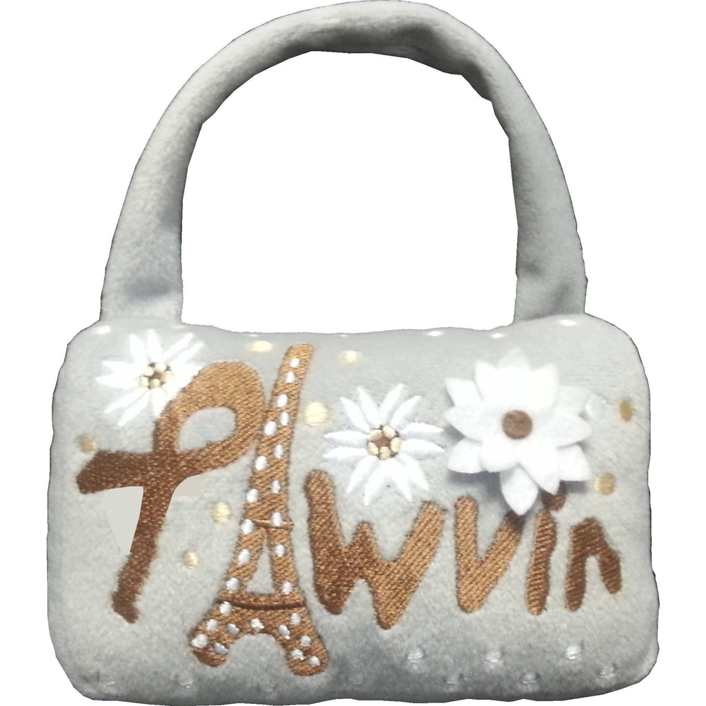PAWVIN  - EIFFEL TOWER MINAUDIÈRE DOG PURSE PLUSH TOY, Toys - Bones Bizzness