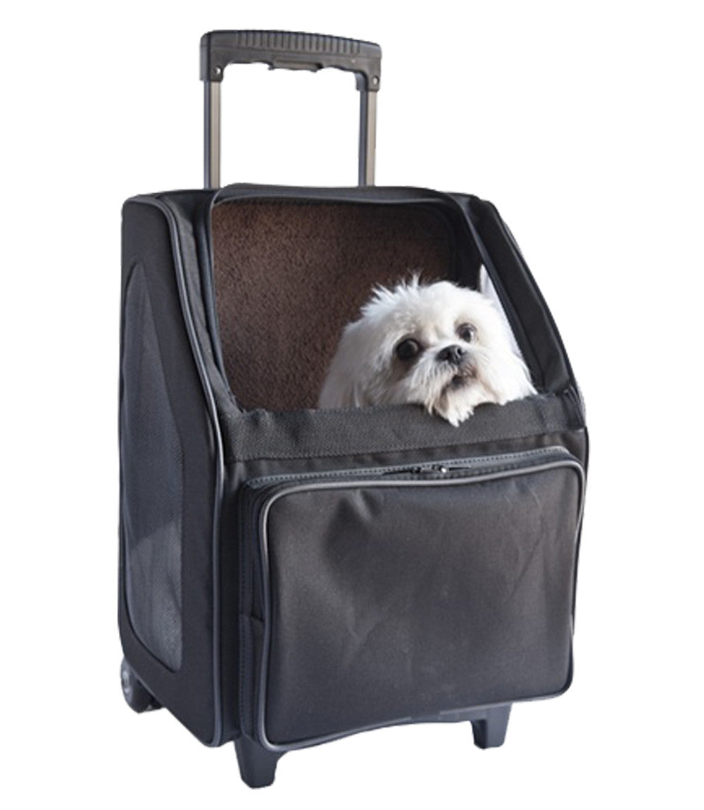 RIO BAG ON WHEELS - BLACK 3-IN-1 DOG CARRIER, Carriers - Bones Bizzness