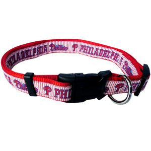 PHILADELPHIA PHILLIES DOG COLLAR – RIBBON, MLB - Bones Bizzness