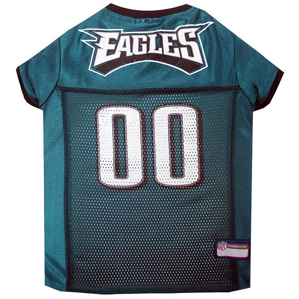 PHILADELPHIA EAGLES DOG JERSEY- BLACK TRIM, NFL Jerseys - Bones Bizzness