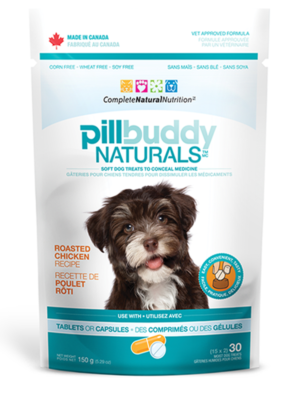 PEANUT BUTTER & BANANA PILL BUDDY NATURALS, Treats - Bones Bizzness
