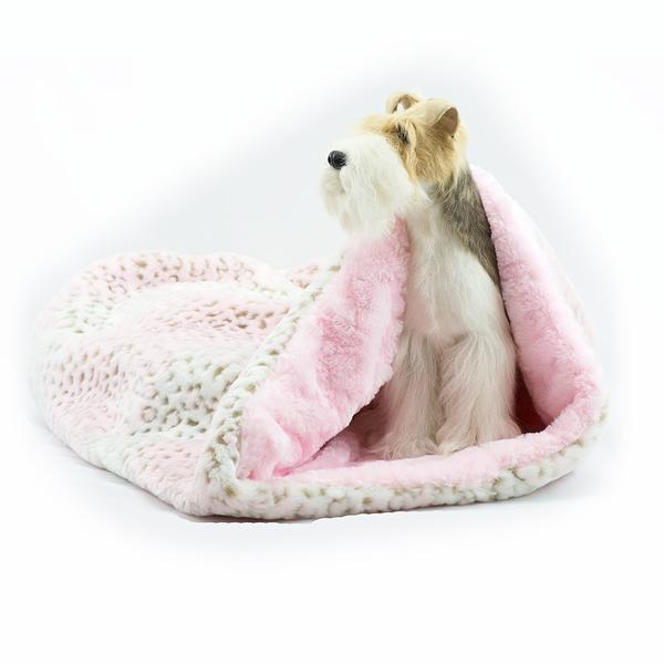 CUDDLE CUP DOG BED - PINK LYNX, Beds - Bones Bizzness