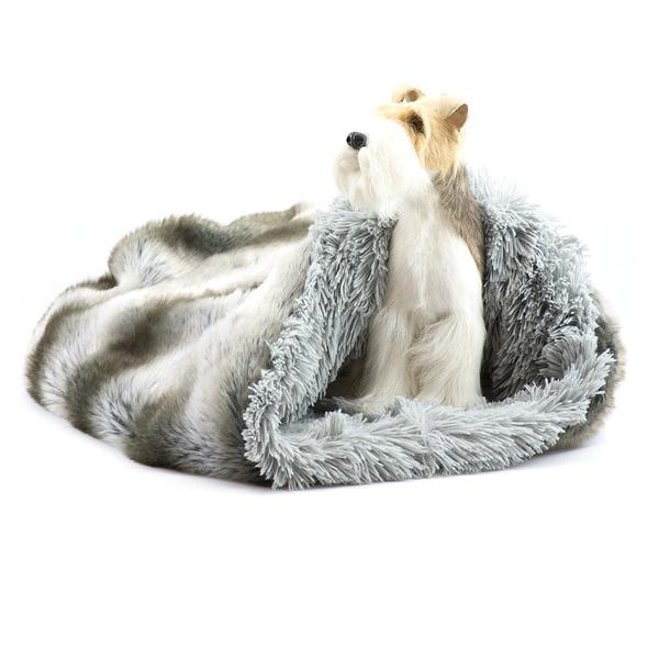 PLATINUM CHINCHILLA WITH SILVER SHAG CUDDLE CUP, Beds - Bones Bizzness