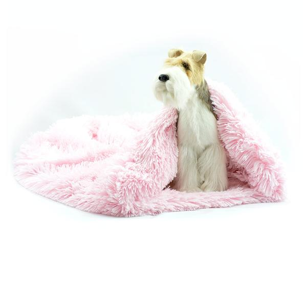 PUPPY PINK SHAG CUDDLE CUP DOG BED, Beds - Bones Bizzness