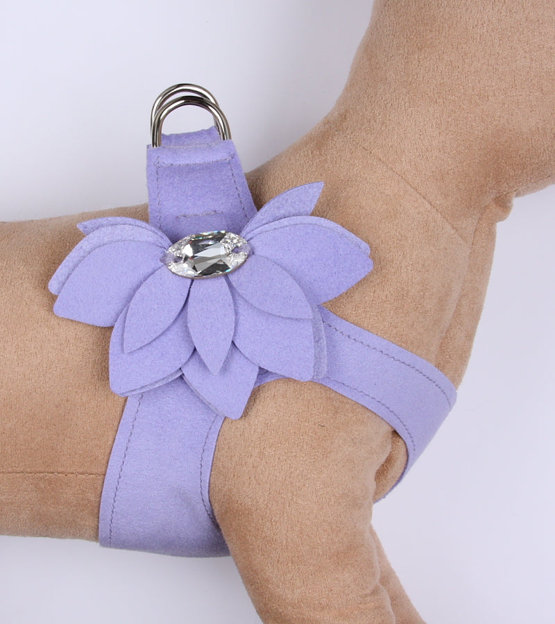 WATER LILY CRYSTAL STEP-IN DOG HARNESS - FRENCH LAVENDER, Harness - Bones Bizzness
