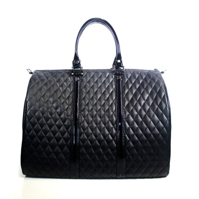 BLACK QUILTED LUXE JL DUFFLE DOG CARRIER, Carriers - Bones Bizzness