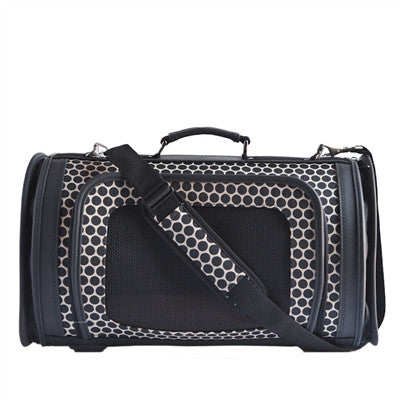 KELLE DOG BAG REVERSE BLACK NOIR, Carriers - Bones Bizzness