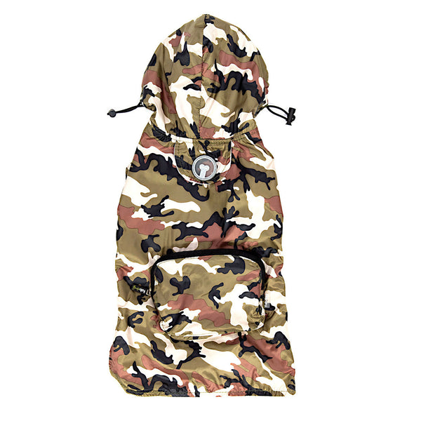 CAMO PACKAWAY DOG RAINCOAT