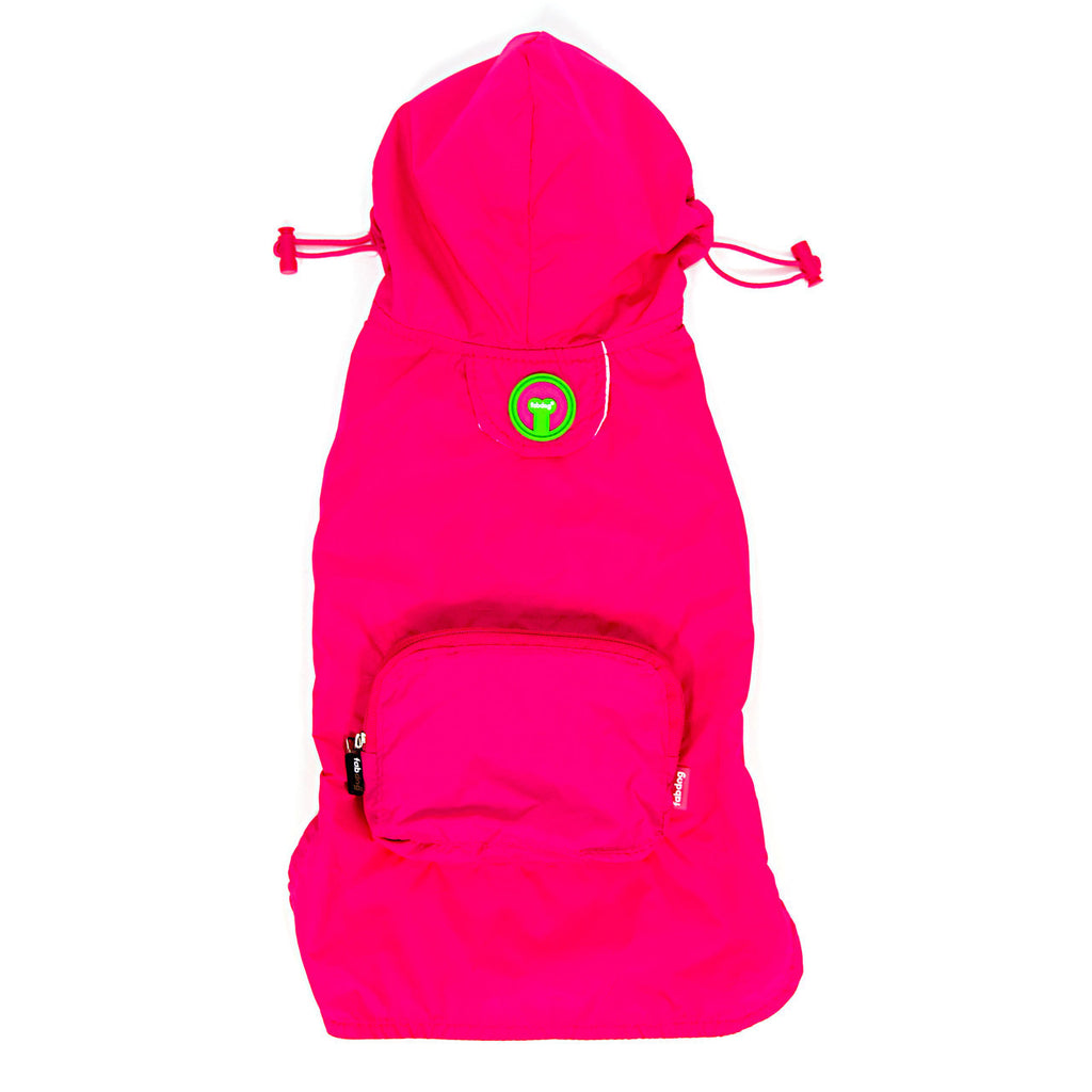 HOT PINK CRAB PACKAWAY DOG RAINCOAT